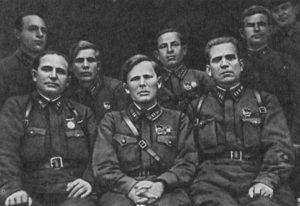 Командование Воронежского полка перед  отправкой на фронт