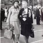 И. Богачева и Л. Савельева на встрече ветеранов - первогвардейцев. 1981 г., Тбилиси
