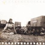 1943 г. В перерыве между боями. Выступление перед личным составом медсанбата