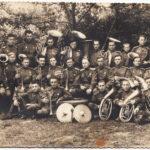 """Первое сохранившиеся послевоенное фото. Подпись """"г. Одесса 1 мая 1946 г. 7 ноября 1945 г. 86 гв. стр. полк"""""""